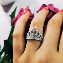 Load image into Gallery viewer, PRINCESS LILY sterling silver ring