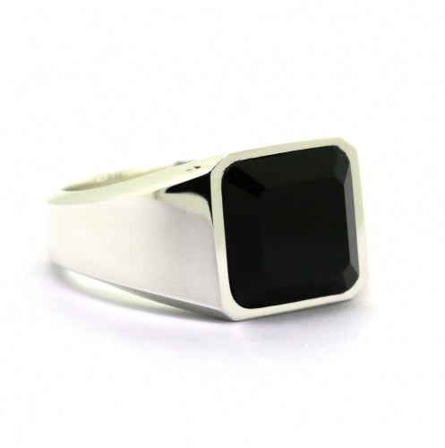 GABRIEL Mens handcrafted sterling silver ring