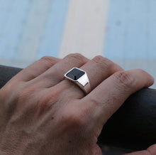Load image into Gallery viewer, GABRIEL Mens handcrafted sterling silver ring