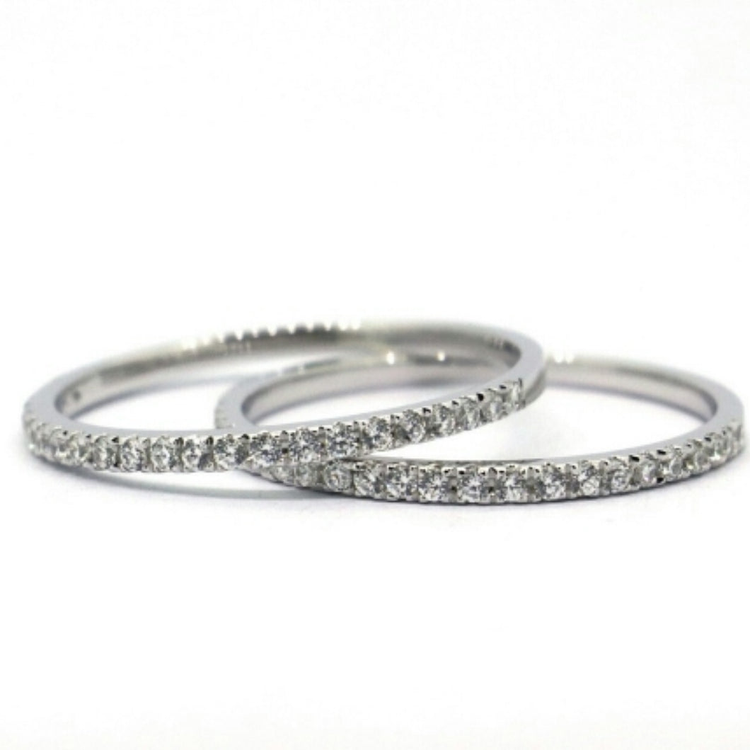 RILEY Handcrafted sterling silver band set