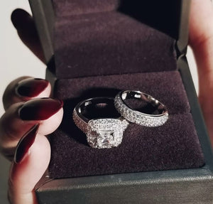 ARIA Sterling silver ring set
