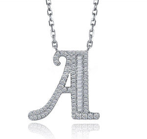 AMARIS handcrafted Sterling silver letter necklace