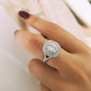 DILARA Silver filled ring