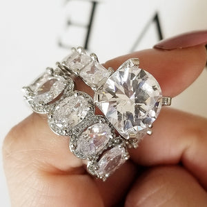 MUSCAT & REEVA Silver plated ring set