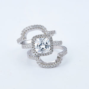 NAOMI Silver filled ring set
