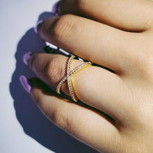 Load image into Gallery viewer, AIZA adjustable criss cross ring