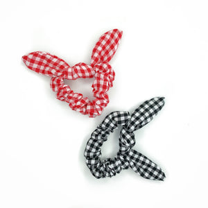 LAUREN PLAID LINEN SCRUNCHIE