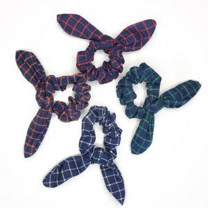 AUTUMN PLAID TIE SCRUNCHIE