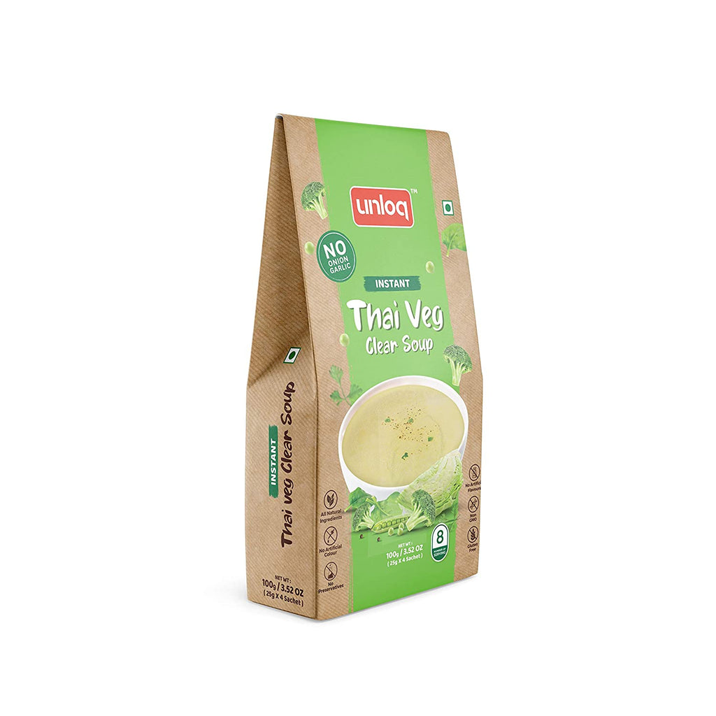 Unloq Thai Veg Hot and Sour Veg (No Onion Garlic) Soup 100gm