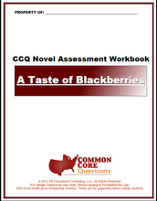 Load image into Gallery viewer, A Taste of Blackberries CCQ Workbook (Reading Level S - 640L)