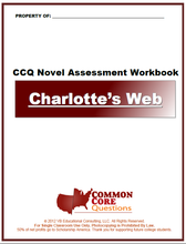 Load image into Gallery viewer, Charlotte's Web CCQ Workbook (Reading Level R - 680L)