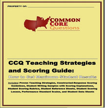 Load image into Gallery viewer, CCQ Teaching Strategies and Scoring Guide: How to Get Maximum Student Results