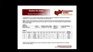 Number the Stars CCQ Workbook (Reading Level U - 670L++)