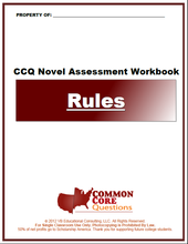 Load image into Gallery viewer, Rules CCQ Workbook (Readling Level R - 780L)