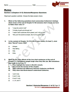 Rules CCQ Workbook (Readling Level R - 780L)