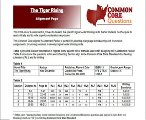 The Tiger Rising CCQ Workbook (Reading Level T - 520L)