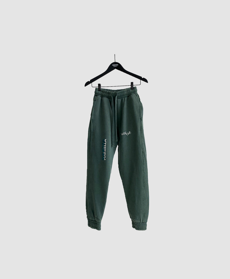 SAUDI LOVE PANTS DARK GREEN