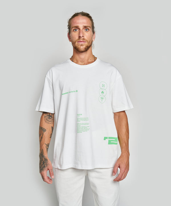 OVERSIZED GRAPHIC 20 T-SHIRT WHITE