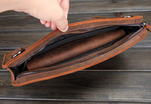 Retro Leather Messenger Bag