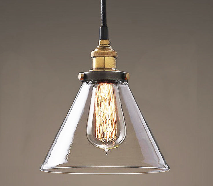 Leona 8-inch Adjustable Cord Glass Edison Lamp USA only