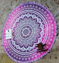 Load image into Gallery viewer, Mandala Round Yoga Mat