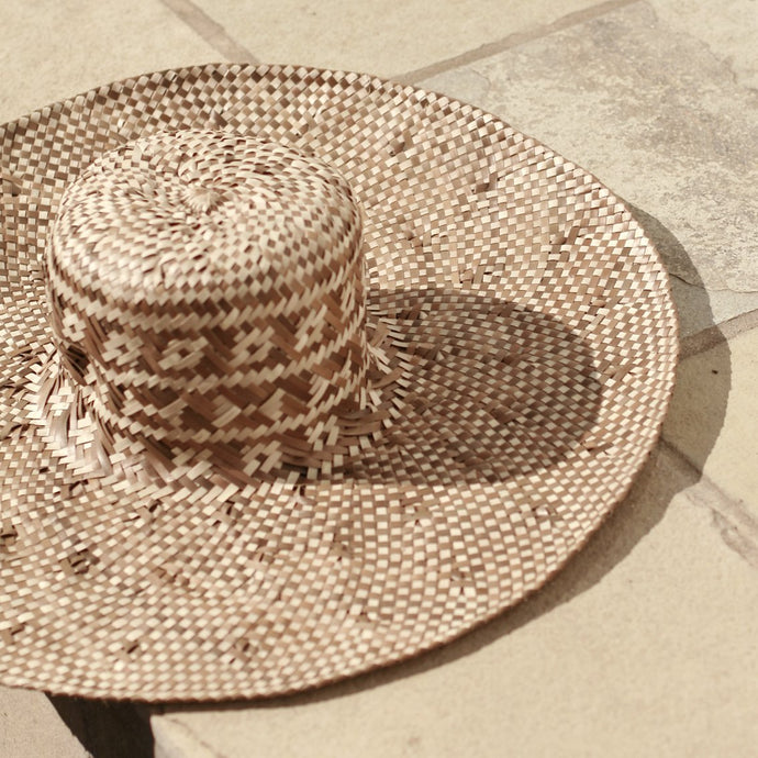Borneo Tata Straw Hat, in Beige