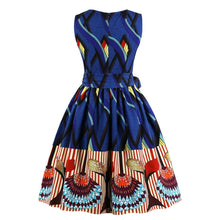 Load image into Gallery viewer, Unusal & Fabulous Ethnic printed Swing dress