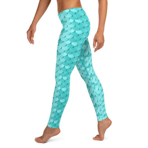 Kathy Blue Mermaid Leggings