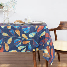 Load image into Gallery viewer, Blue Vine Indoor / Outdoor Tablecloth