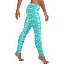 Load image into Gallery viewer, Kathy Blue Mermaid Leggings