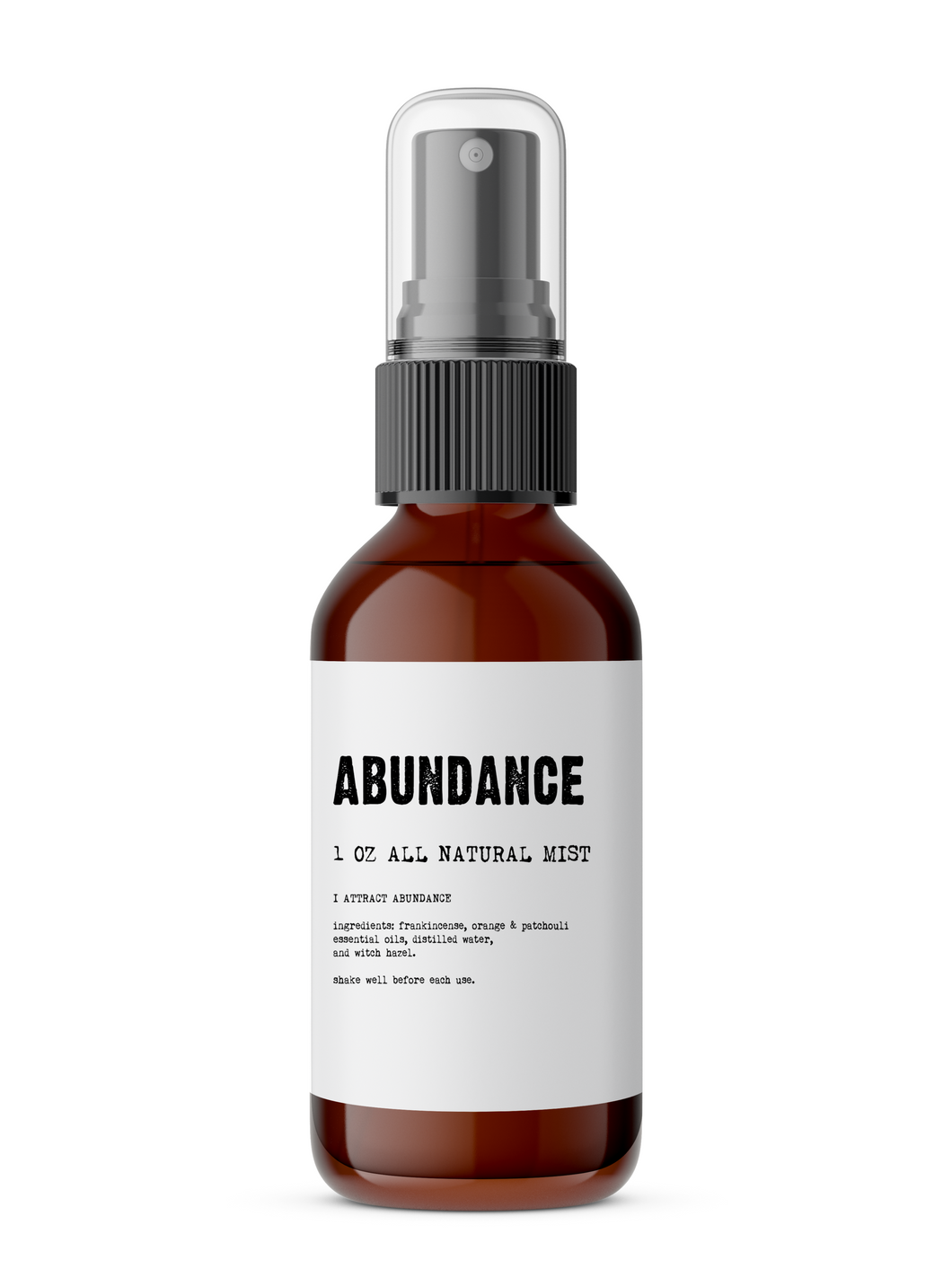 Abundance - Meditation/Body Mist - Made with All Natural Ingredients