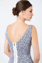 Load image into Gallery viewer, Sleeveless Floral Straight Dress with Zip Detail