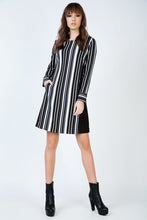 Load image into Gallery viewer, Striped A Line Dress with Pockets