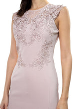Load image into Gallery viewer, Nude Lace Embroidered Ruffle Dress