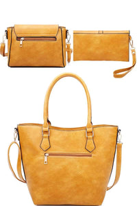 Modern Chic Tote, Crossbody & Clutch Set
