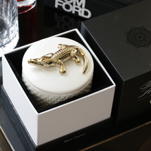 Load image into Gallery viewer, LUXURY White Crocodile Candle in Blanc Charnel