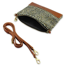 Load image into Gallery viewer, Octavia Cross Body Bag - Light Leopard Print Velvet