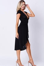 Load image into Gallery viewer, SOLID WRAP DRESS