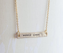Load image into Gallery viewer, Mama bear necklace, mama and bear cub necklace