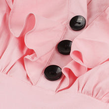 Load image into Gallery viewer, Beautiful pink frilled swing dress available in Plus sizes!