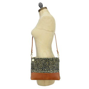 Octavia Cross Body Bag - Light Leopard Print Velvet