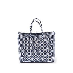 SMALL BLUE AZTEC TOTE BAG