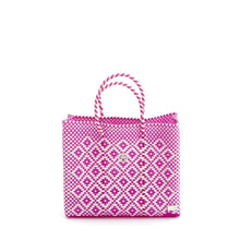 Load image into Gallery viewer, SMALL PINK AZTEC TOTE BAG
