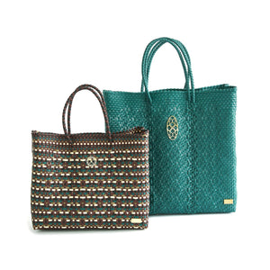 MEDIUM GREEN TOTE BAG