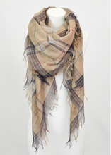 Load image into Gallery viewer, Mocha Mix Plaid Lightweight City Scarf