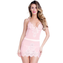 Load image into Gallery viewer, EYELASH LACE BABYDOLL & G-STRING OH LA LA CHERI