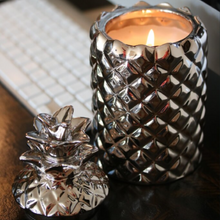 Load image into Gallery viewer, LUXURY Champagne Pineapple candle in Amber Oud
