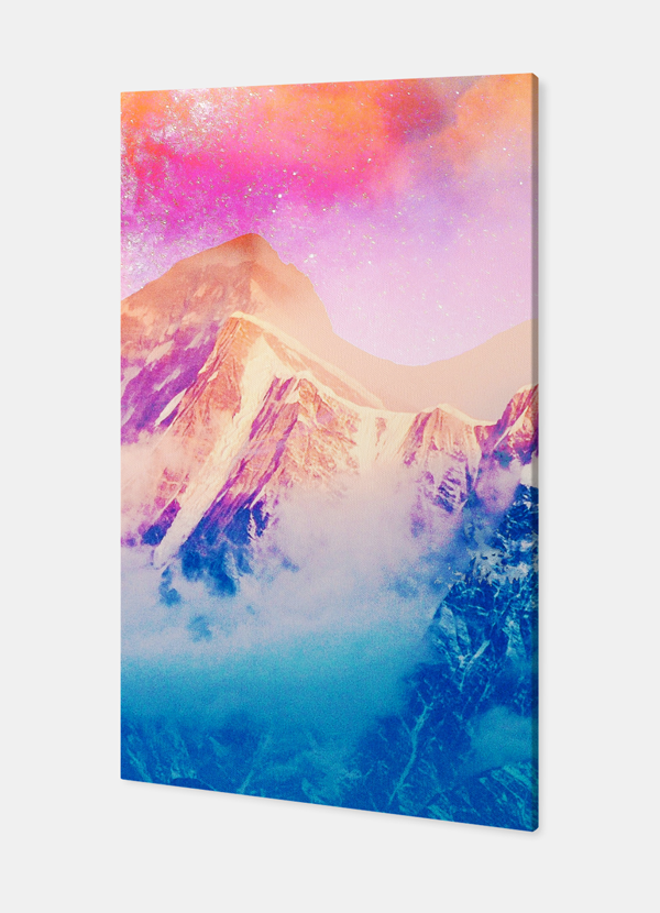 Pink Sky Stretched Canvas
