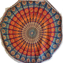 Load image into Gallery viewer, Festival Round Mandala Tapestry