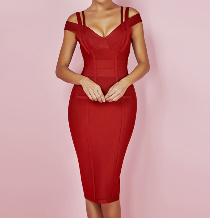Must Have Red wiggle dress! Free worldwide shipping